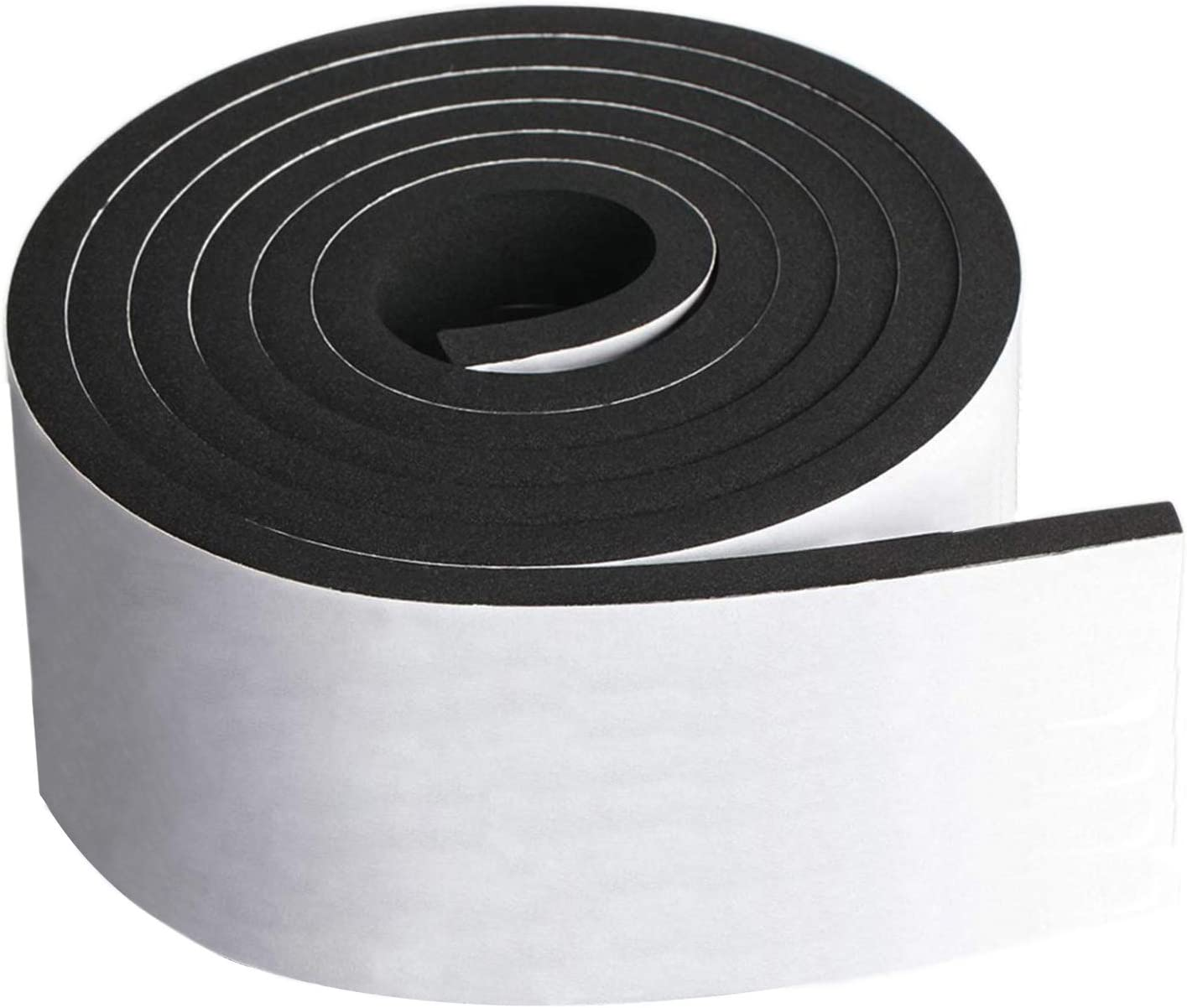 """Neoprene Foam Strip Roll by Dualplex, 4"""" Wide x10' Long 1/4"""" Thick, Weather Seal High Density Stripping with Adhesive Backing – Weather Strip Roll Insulation Foam Strips"""
