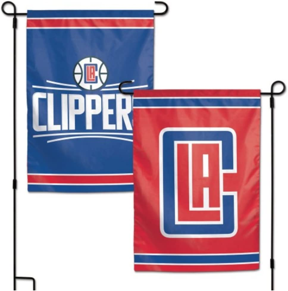 "WinCraft NBA Los Angeles Clippers 12.5"" x 18"" Inch 2-Sided Garden Flag Logo"