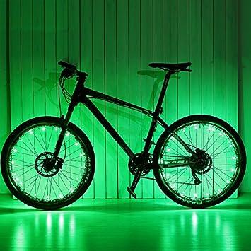 HuaD Luces LED para Rueda de Bicicleta - Luces para radios de Bicicleta Resistentes al Agua