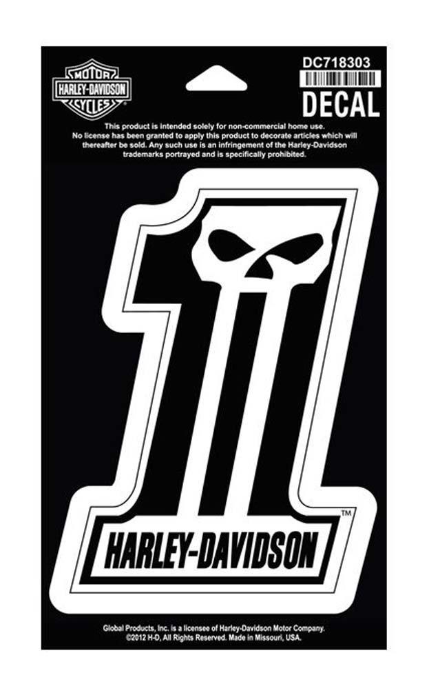 Amazon com harley davidson 1 skull medium decal 4 w x 5 1 2 h dc718303 harley davidson automotive
