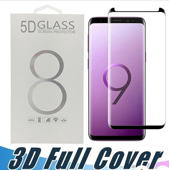 sale retailer a57da 8521d Amazon.com: Galaxy S9 Plus (Transparent) 5D Tempered Glass Screen ...