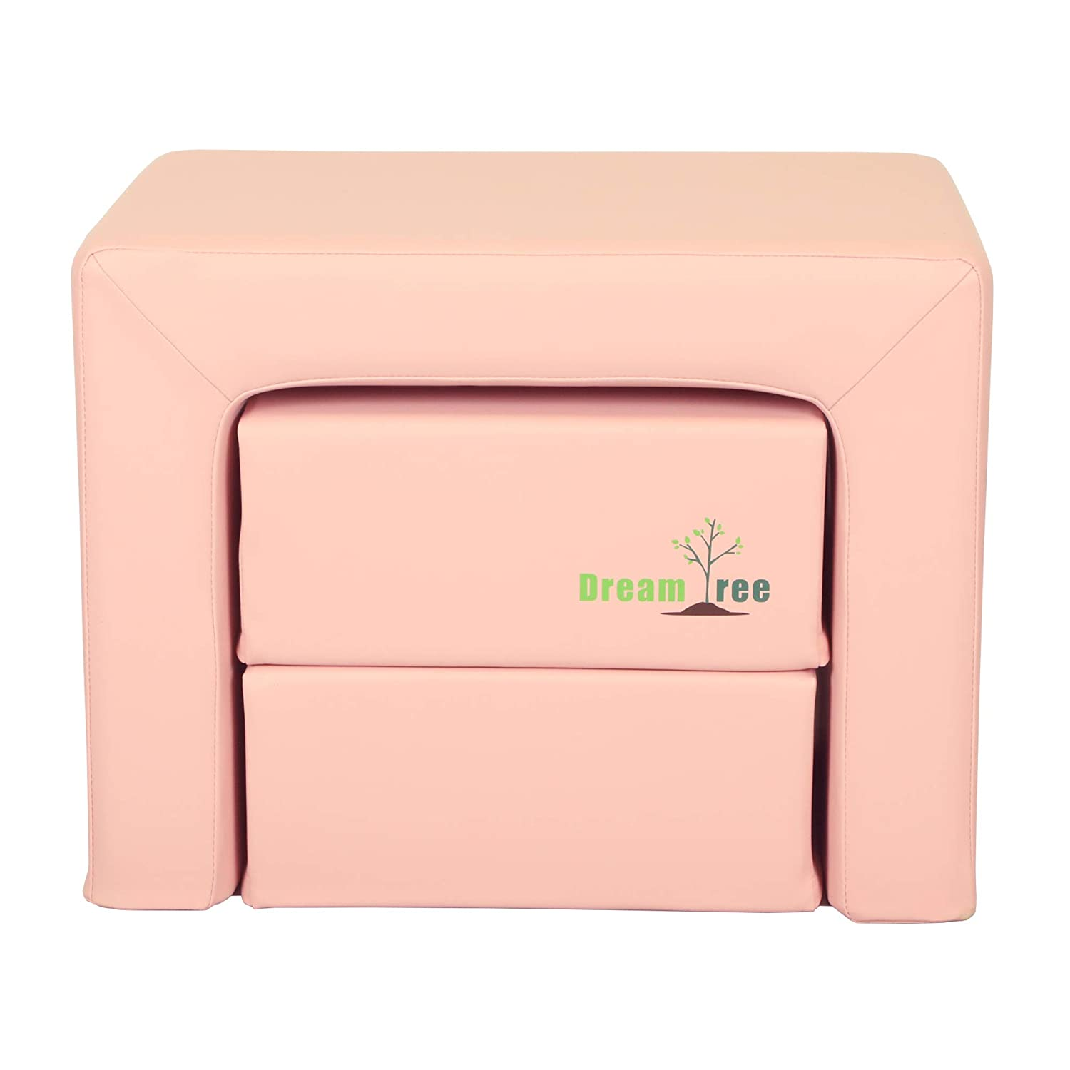 and Child Pink Dream Tree Toddler Table and Chair Set Kids Washable Stool Type Safe Non-Toxic CPSIA Compliant Soft Foam Furniture for Baby