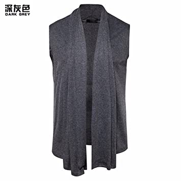 Amazon.com: Mens sleeveless sweater cardigan vest buckle trend ...