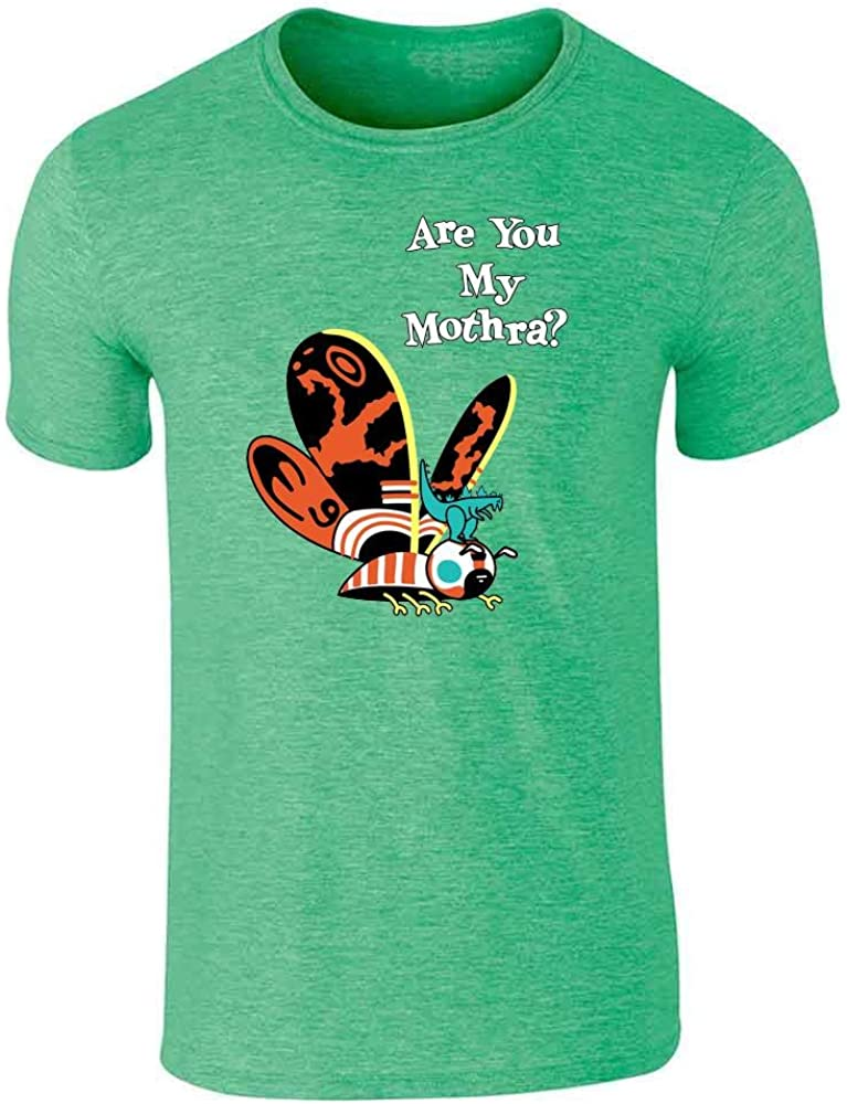 Pop Threads Kaiju Japanese Monster Movie Retro Funny Mothra Graphic Tee T-Shirt for Men