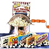 'Matinee Idol' Movie Night Candy Gift Basket and Popcorn Popper