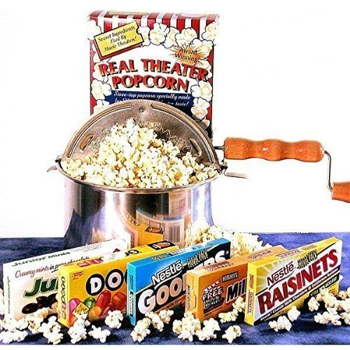 'Matinee Idol' Movie Night Candy Gift Basket and Popcorn Popper by Unknown