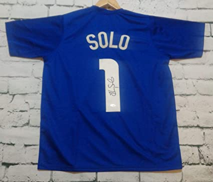 74e68ea691c Hope Solo Signed Autographed Team USA Soccer Jersey - JSA COA at Amazon s  Sports Collectibles Store