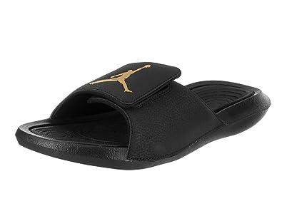 562e5595d5 Image Unavailable. Image not available for. Color: Jordan Hydro 6 Men's  Slides Black/Metallic Gold ...
