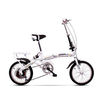 XQ Bicicleta Plegable Bicicleta Ultralight Mini Velocidad Variable Mojadura 20 Pulgadas Adulto Bicicleta para Niños (
