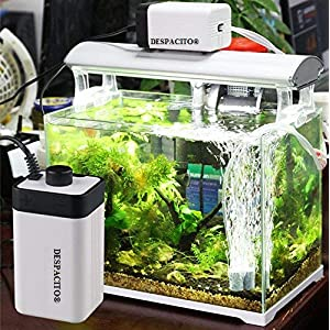 DESPACITO® CT-202 Super Noiseless Air Pump for Aquarium with 2 Air Outlets That Has Adjustable Air Flow Facility