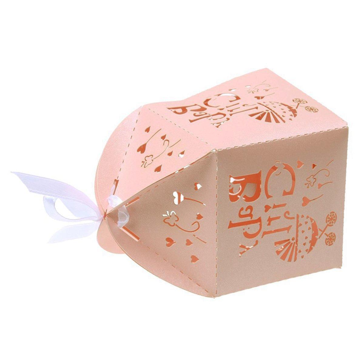 Amazon.com: LUOEM Laser Cut Bird Favor Boxes,Wedding Favor Candy ...