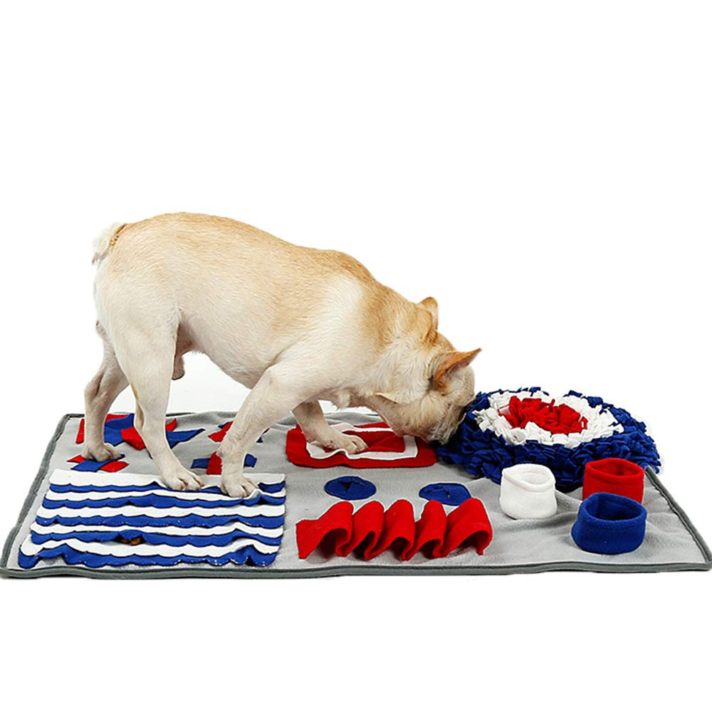 Pet Snuffle Mat, Interactive Dog Puzzle Toys - Encourages Natural Foraging Skills, Feeding Mats for Dogs, Cats Agility Training - Durable and Machine Washable