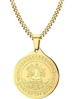 L&L® SAINT CHRISTOPHER Pendant Women Men Amulet Jewelry Necklace Nice UK Gift AgYo5