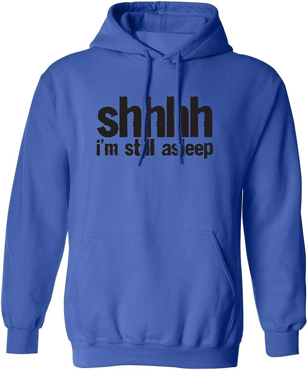 zerogravitee Shhhh Im Still Asleep Adult Hooded Sweatshirt