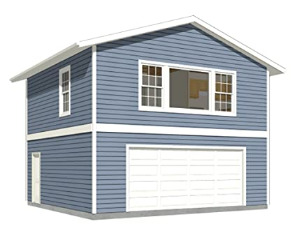 Garage Plans: Two Car, Two Story Garage With Apartment - Plan 1107 ...