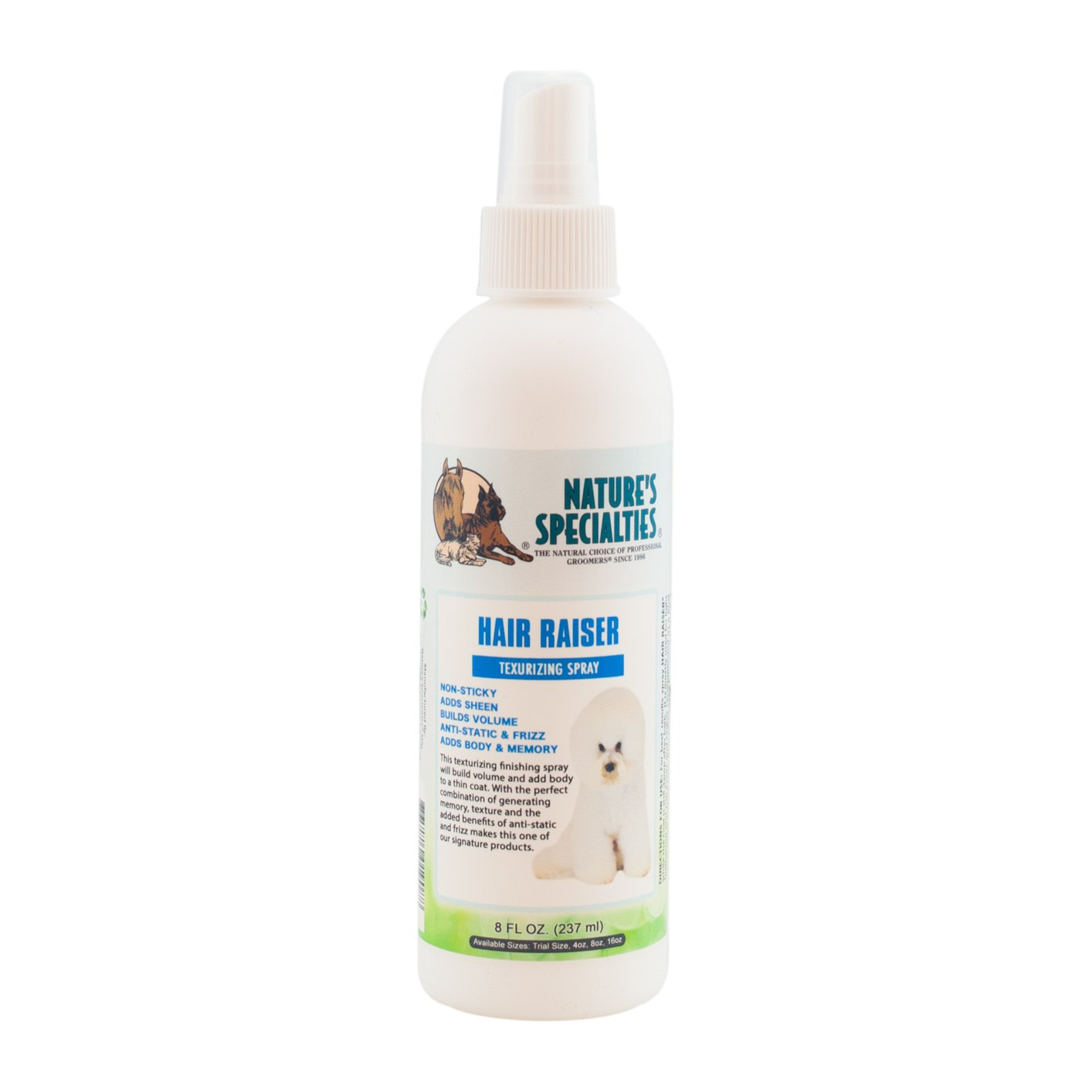 Nature's Specialties Hair Raiser Texturing Spray for Pets, 8-Ounce