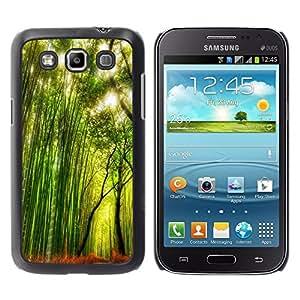 TopCaseStore / la caja del caucho duro de la cubierta de protección de la piel - Plant Nature Forrest Flower 66 - Samsung Galaxy Win I8550 I8552 Grand Quattro