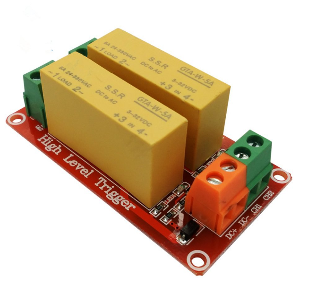 Fengyun 2 Channel 5v High Level Trigger Module Dc Controll Ac Solid State Relay Load With