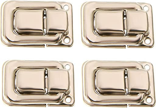 4pcs Fastener Toggle Lock Latch Catch For Suitcase Case Boxes Trunk Door Silver Amazon Co Uk Diy Tools