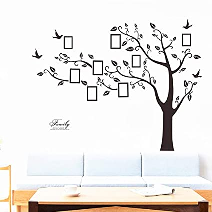 amazon com huge family tree wall decal waterproof family picture