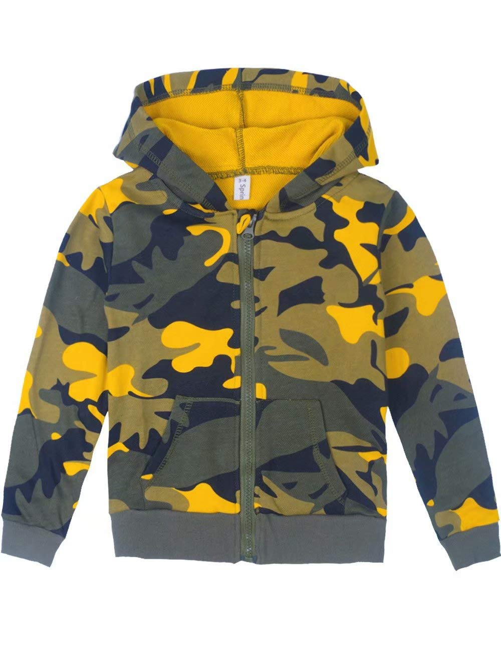 ef616d57a2a9 Spring Gege Youth Classic Full Zip Camo Hoodies