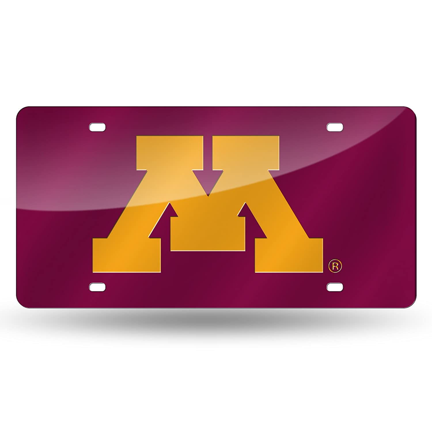 NCAA Minnesota Golden Gophers Laser Inlaid Metal License Plate Tag