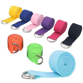 KINDOYO Cinturón de Yoga - Cinturón Ajustable de Algodón ...