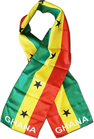 Kids Scarf Flag of Ghana Lightweight Long Scarf Shawl Warps