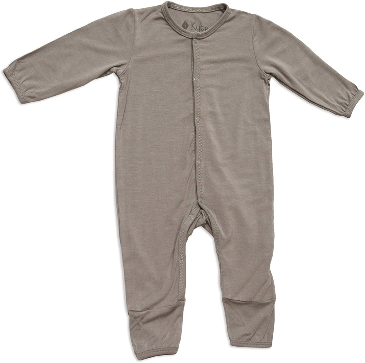 KYTE BABY Unisex Soft Bamboo Rayon Rompers, Snap Closure, 0-24 Months