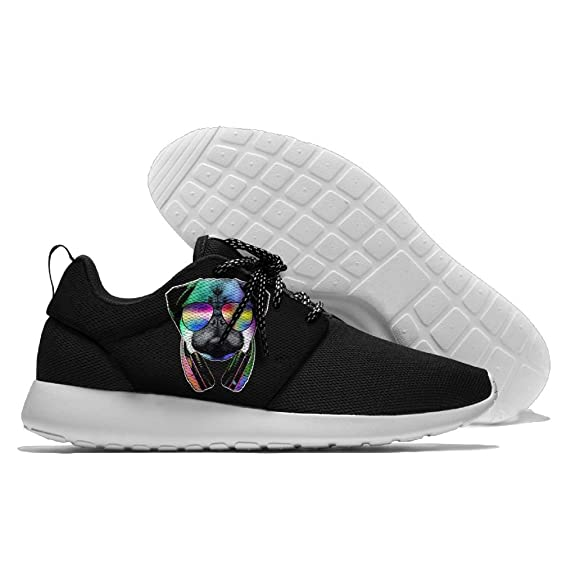 Pug Sunglasses Headphones Lightweight Breathable Casual Sports Shoes Fashion Sneakers Shoes