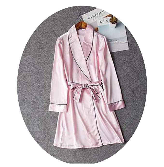 Women Silk Dresses for Women Pijamas Batas De Seda Bathrobe Kimono ...