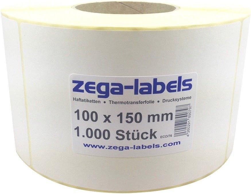 DYNASUN 1000 St/ück 10x15cm Thermo Etiketten auf Rolle 102x152 mm Kern 25 mm aussen gewickelt f/ür Versandetiketten DPD UPS GLS und DHL
