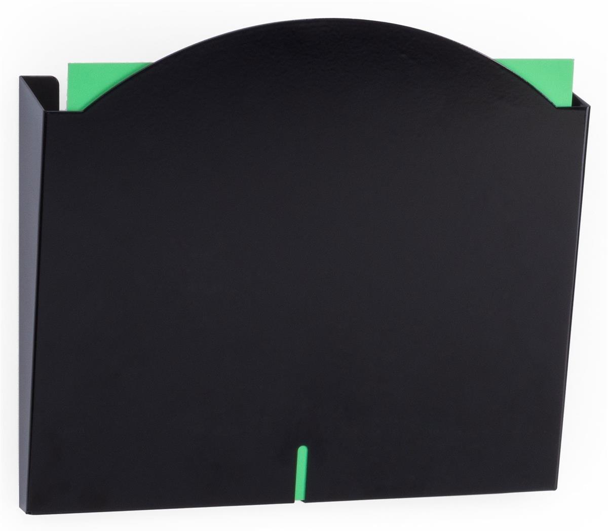 Displays2go Wall File Folder Racks, Medical and Office Pockets (2HPP01BLK)
