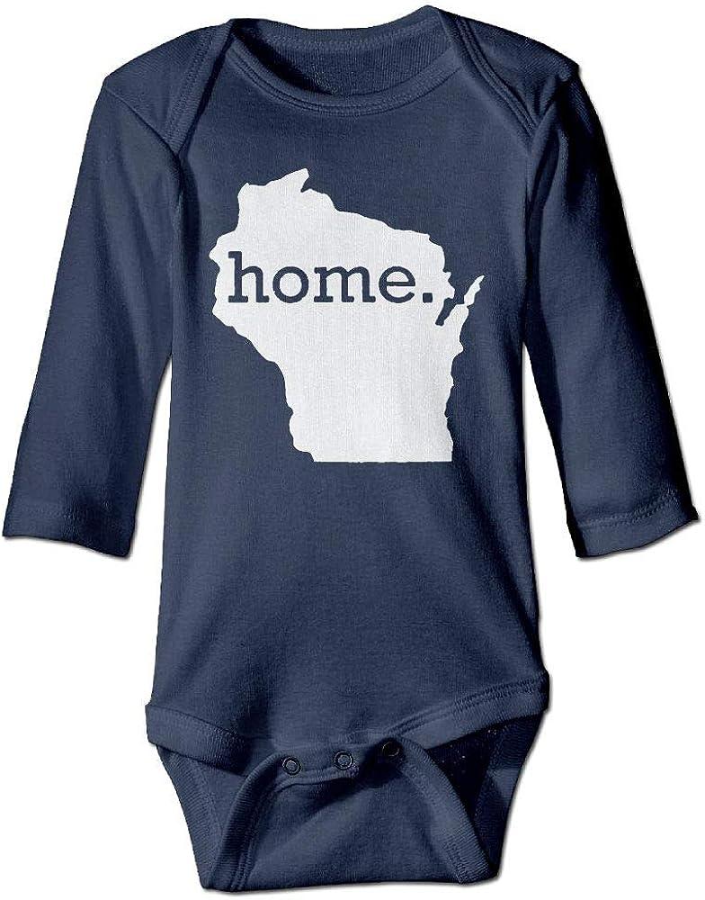 Yecx-1 Newborn Baby Girl Wisconsin Map Home Romper Baby Bodysuit