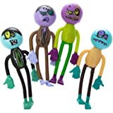 Lot Of 12 Assorted Bendable Zombie Theme Action Figures