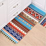 """ONEONEY Kicthen Area Carpet Indian Style Design Bath Room Rug Non-Skid Washable Home Decor Dining Room Carpet-(Indian,15.7""""*23.6"""")"""