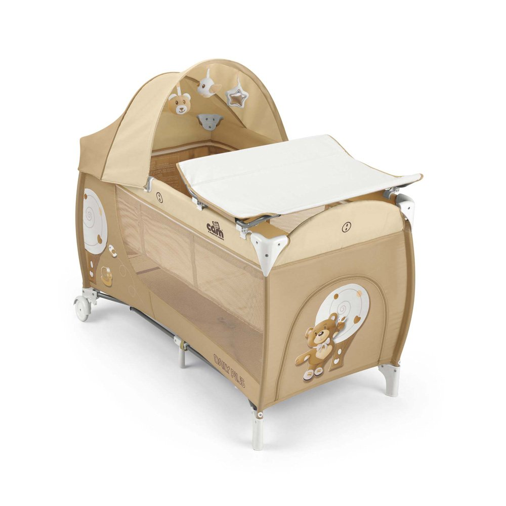 Cam the World of the Children L113 Daily Plus Bed - Bear - Beige