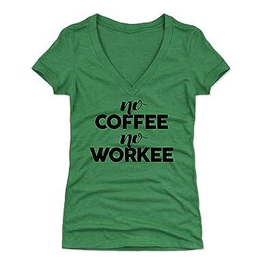82e860dda Amazon.com: Bald Eagle Shirts Funny Coffee Women's Shirt - No Coffee No  Workee: Clothing