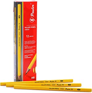 Pasler 1033 Yellow Writing pencils,Wood-Cased #2 HB,School & Office Pencils,12-Pack
