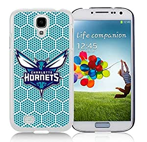 New Custom Design Cover Case For Samsung Galaxy S4 I9500 i337 M919 i545 r970 l720 Charlotte Hornets 5 White Phone Case