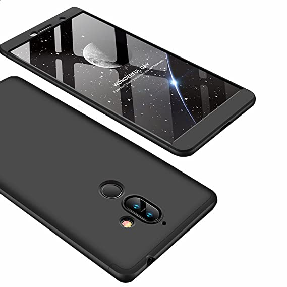 online retailer 591ee c08f2 Nokia 7 Plus Case, Ranyi [Full Body 3 in 1] [Slim & Thin Fit Tightly] [360  Degree Protection] Premium Hybrid Bumper 3 in 1 Electroplated Hard Case ...