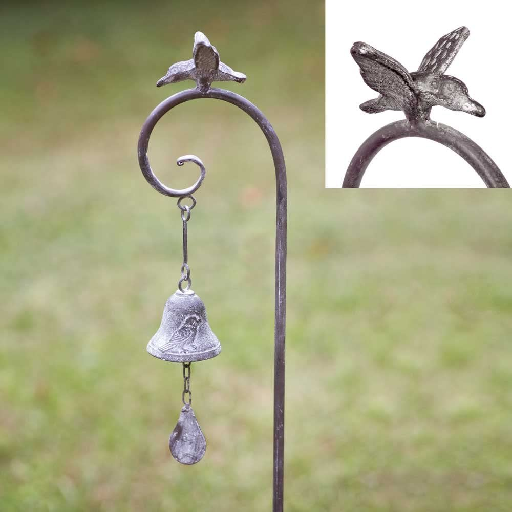 CTW Decorative Distressed Metal Benson Bell Garden Stake