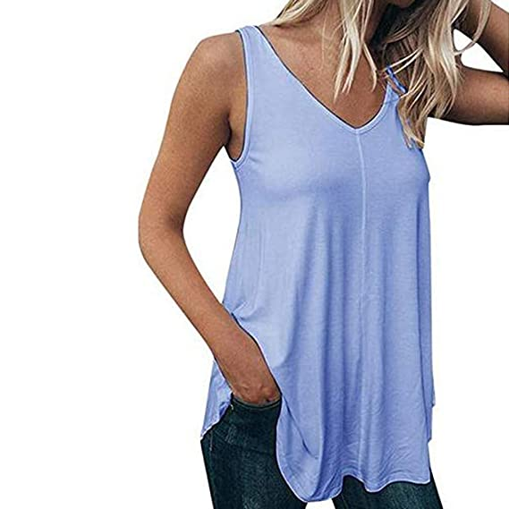 d7e3f0b8f Camisetas sin Mangas Color sólido de Mujer