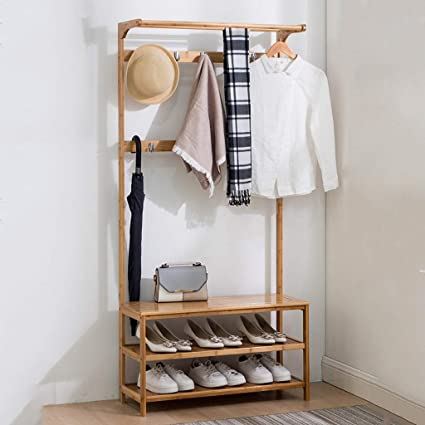 Shoe Coat Rack Simple Hallway Floor Zapatero Hanger ...