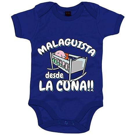Body bebé Malaguista desde la cuna Málaga fútbol - Azul Royal, 6-12 meses