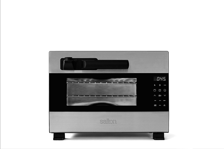 Salton Oven Pressure Cooker, 8lb capacity, Black, Silver
