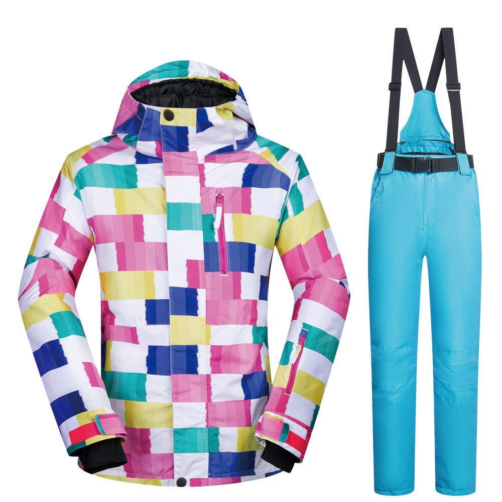 Giacche da sci da donna calde calde calde Tuta da sci Tuta da donna Outdoor Warm impermeabile Single Single Ski Suit Cappotto per abbigliamento invernale Snowproof ( Coloreee   Light blu pants , Dimensione   S )B07MYTH4WFLarge Light blu Pants | Folle Prezzo  | Uscit 8da10e