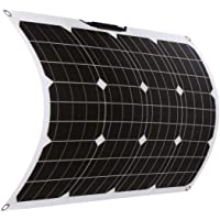 SARONIC Panel Solar Mono ETFE Flexible de 50W 18V con MC4 para Barco, Carpa, RV, Coche, Remolque o Cualquier otra…