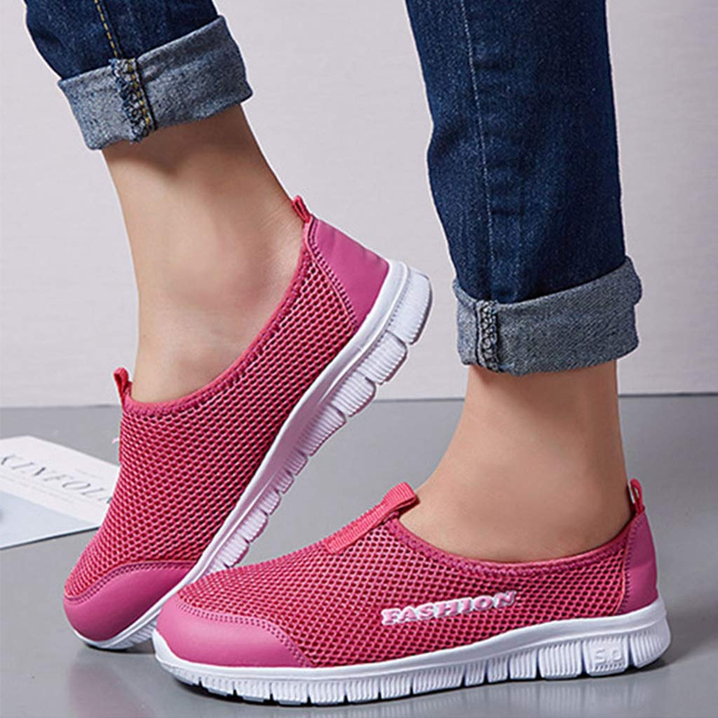 Fay Waters Women Breathable Mesh Sneakers Soft Bottom Non-Slip Walking Flats Shoes