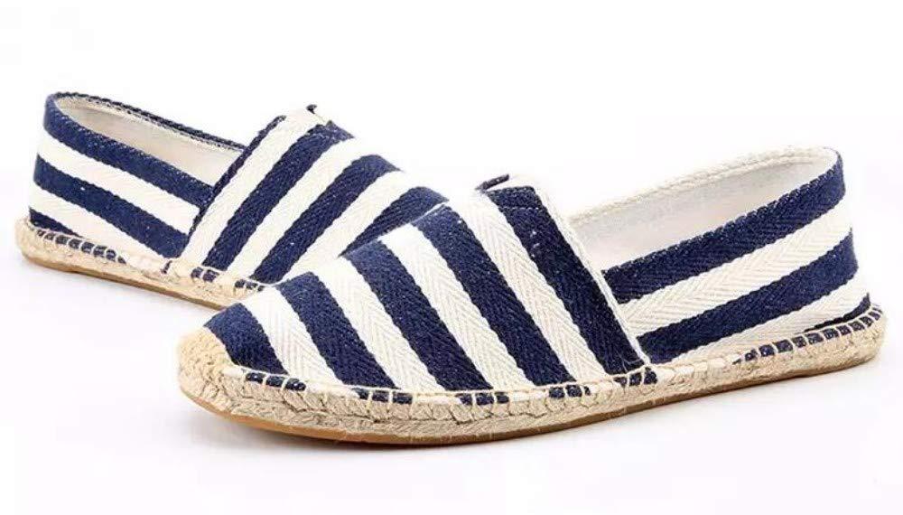 YOPAIYA Chaussures Homme Femmes Appartements Vichy causale Confortable Tissu Espadrille Slip on Chaussures Appartements des Couples de Grande Taille